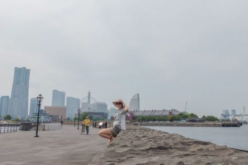 Yokohama harbour and beach, Japan