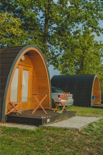 ECLU glamping pods at Lake Pöhl, Germany