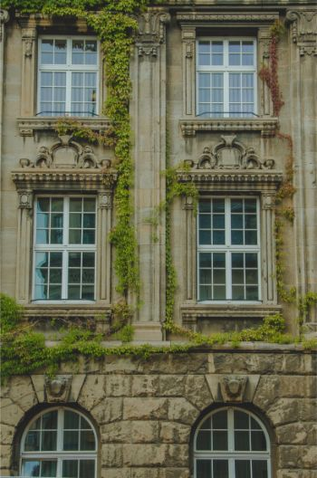 historic house facade, Plauen, Germany