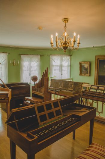 grand pianos at the Musical Instrument Museum, Germany