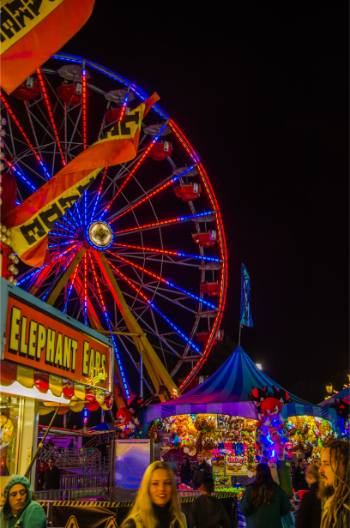 one of three ferris wheels at the 2019 North Carolina State Fair