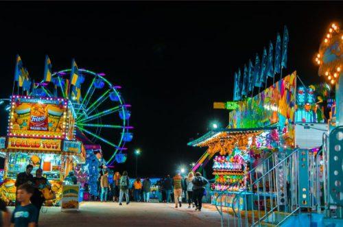 NC fairgrounds 2019 at night