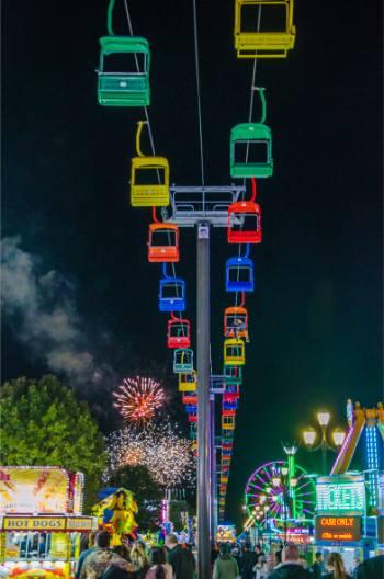 fireworks over North Carolina State Fair 2019