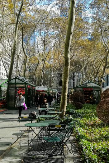 Bryant Park Winter Village during the day