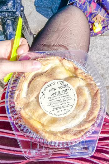 fresh apple pie at Bryant Park Farmers Market