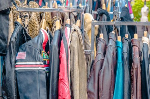 vintage jackets at Brooklyn Flea DUMBO