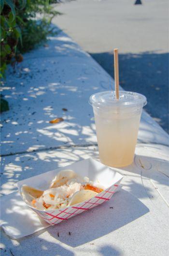 Koran taco with fresh iced tea at Liggett Terrace, Gov Island NY