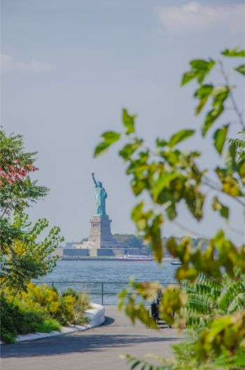 Statue of Liberty seen from Governors Island NY