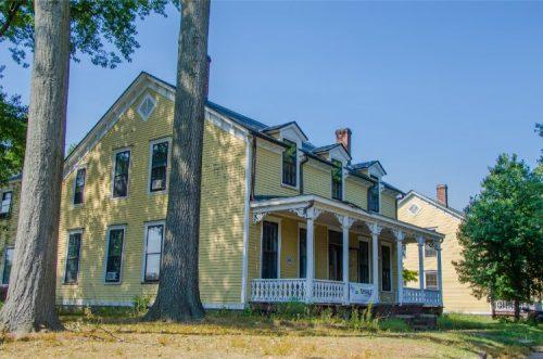 Yellow houses by Nolan Park, Gov Island NY