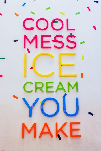 Cold Mess neon sign wall