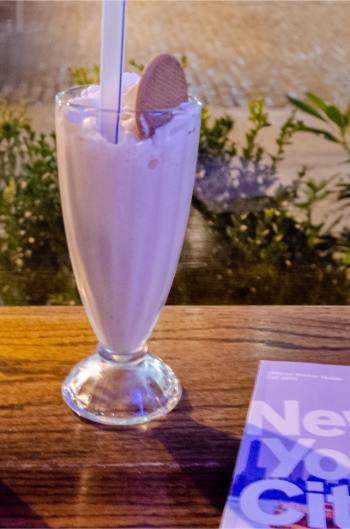 milkshake with New York City brochure