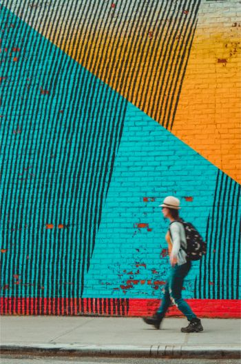 colourful mural in Brooklyn