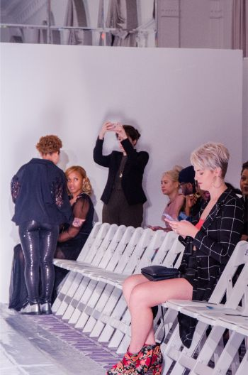 empty front row seats at NYFW 2019 before a show