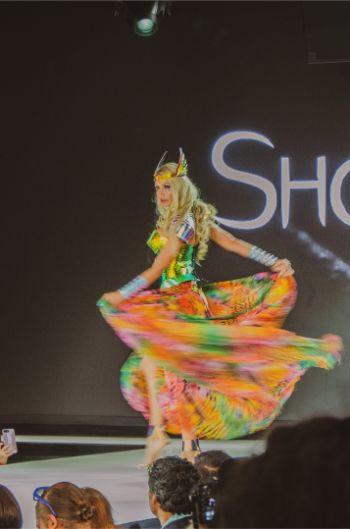 colourful dress at Shokra NYFW 2019
