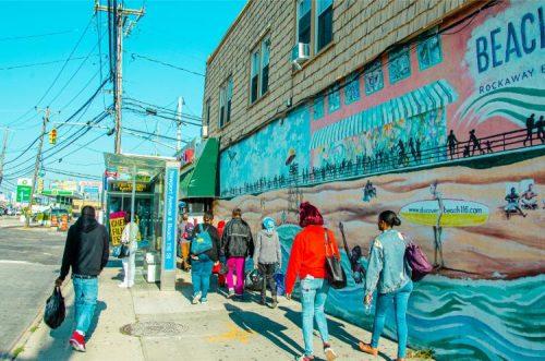 mural near Rockaway Park, NY