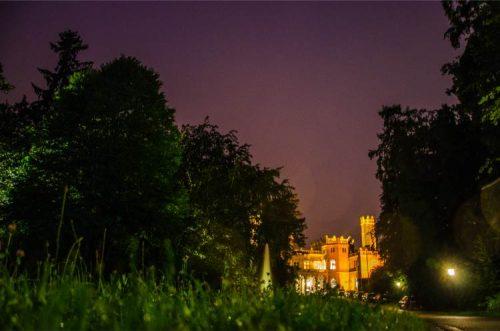 Eckberg Castle in Dresden at night