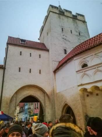 Naumburg city walls during Christmas, Germany