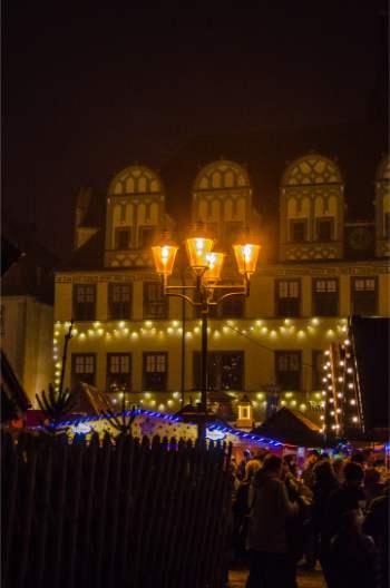 Naumburg Christmas market at night