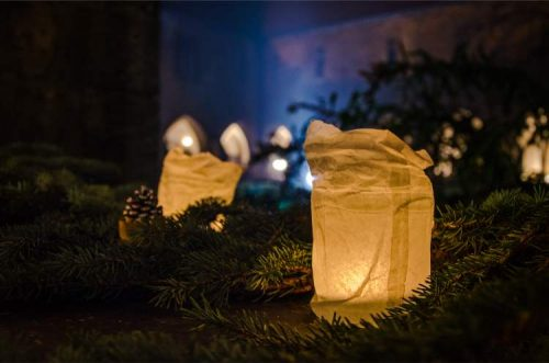 candles lit in Naumburg during Christmas, Germany
