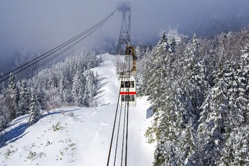 Shinohataka Ropeway in the winter