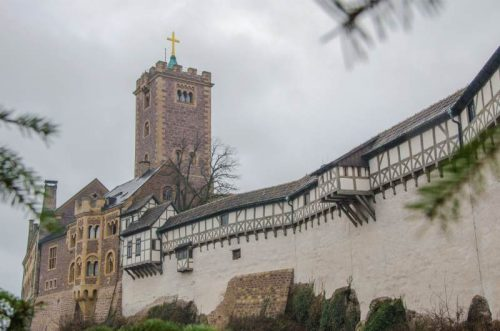Wartburg seen from outside, Eisenach Christmas Market