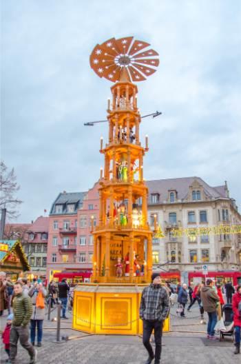 Erfurt's Christmas pyramid during Christmas