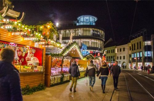 one of Erfurt's Christmas markets