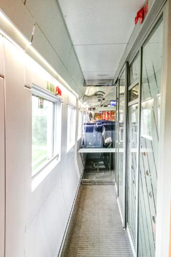 inside a German train