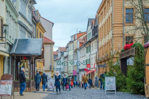 streets around Gotha Christmas Market