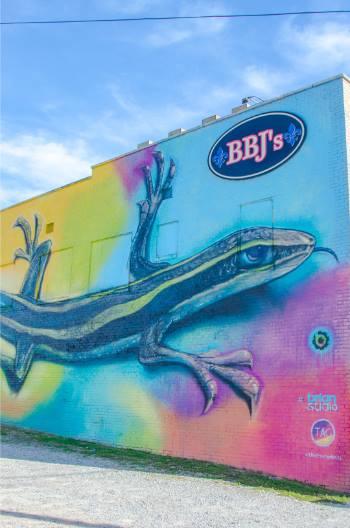 Lizard mural in High Point NC