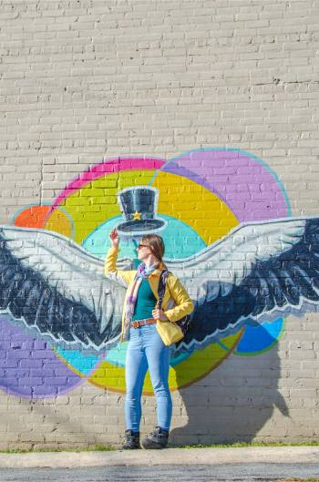 wings mural in High Point NC
