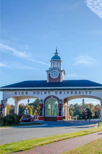 High Point University gate