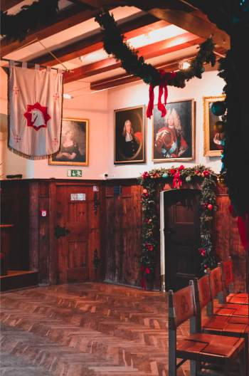 inside the Leuchtneburg in Kahla, Germany, at Christmas