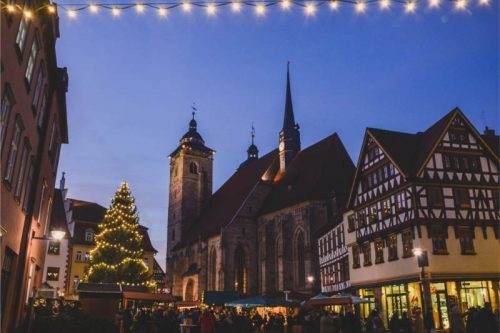 overview of the Schmalkalden Christmas Market