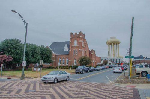 A main street in Salisbury NC