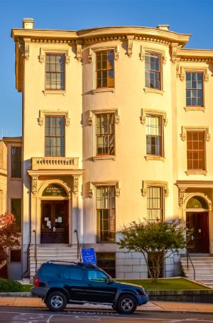 townhouse during sunset in Richmond VA