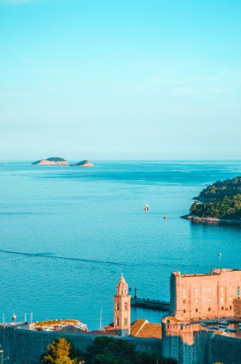 view over bay at Dubrovnik, Croatia