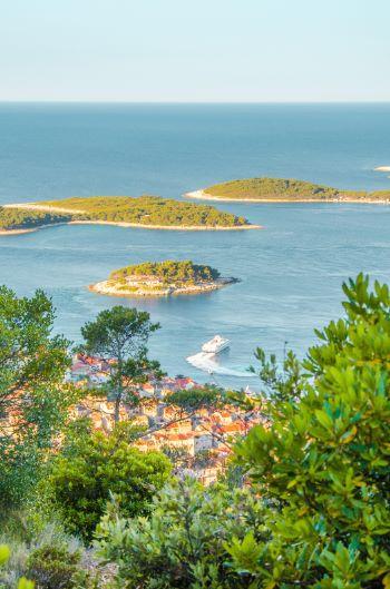 Hvar island seen from a hill