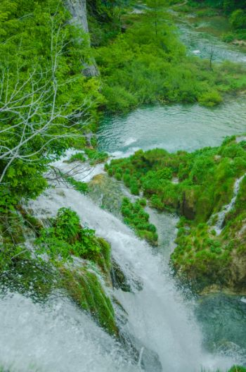 cascades in Plitvice National Park, Croatia