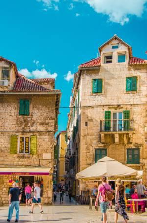 historic houses in Split, Croatia