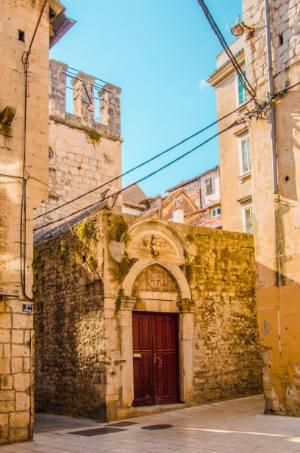 historic walls in Split, Croatia