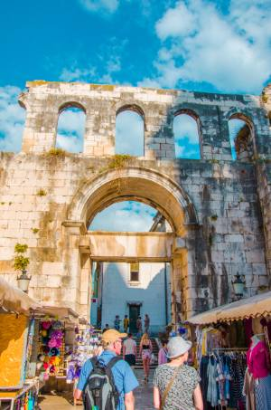 ruins in Split, Croatia