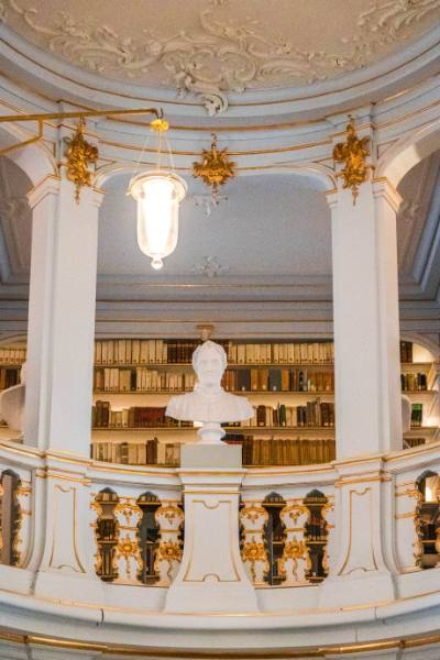 view into the Anna Amalia Library, Weimar, Germany