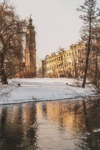 Weimar caslte in the snow