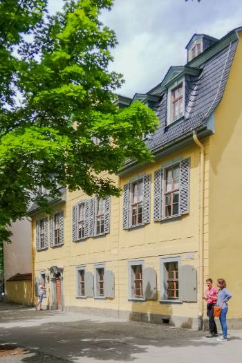 yellow historic house