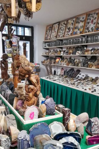 inside a crystal store in Weimar