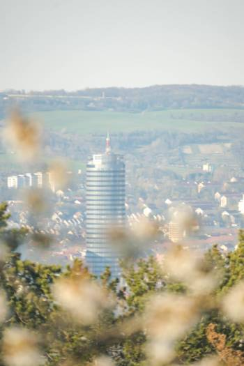 the Jena tower in the distance