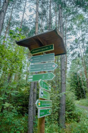 trail signage in moors of Bad klosterlausnitz in Germany